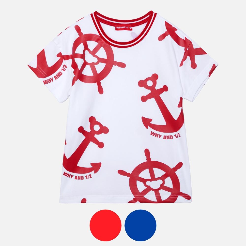 WHY AND 1/2 棉質萊卡T恤 多色可選 5Y ~ 10Y (紅色)