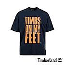 Timberland 男款深寶石藍字母印花T恤|A1YEM