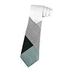 BURBERRY經典蠶絲緹花格紋設計領帶(金屬灰X金屬綠)