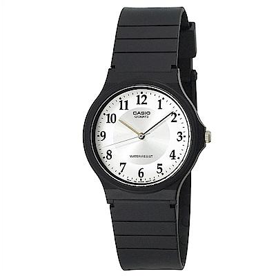 CASIO 超輕薄感指針錶(MQ-24-7B3)-白面