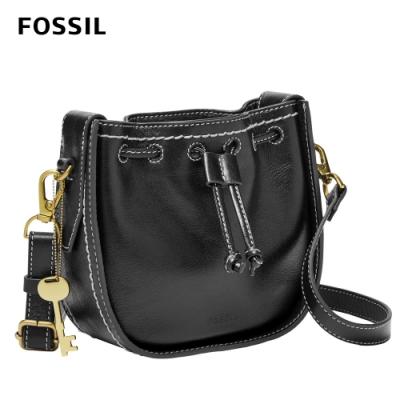 【FOSSIL】Palmer 真皮束口迷你小籠包-黑色  ZB6500001(斜背、腰包兩用)