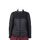BLUGIRL 蕾絲織花細節黑色科技棉絎縫保暖外套
