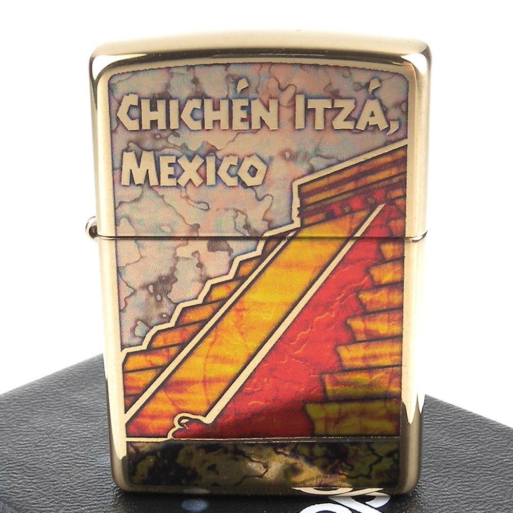 ZIPPO 美系~Pyramid Chichen Itz-墨西哥契琴伊薩金字塔打火機