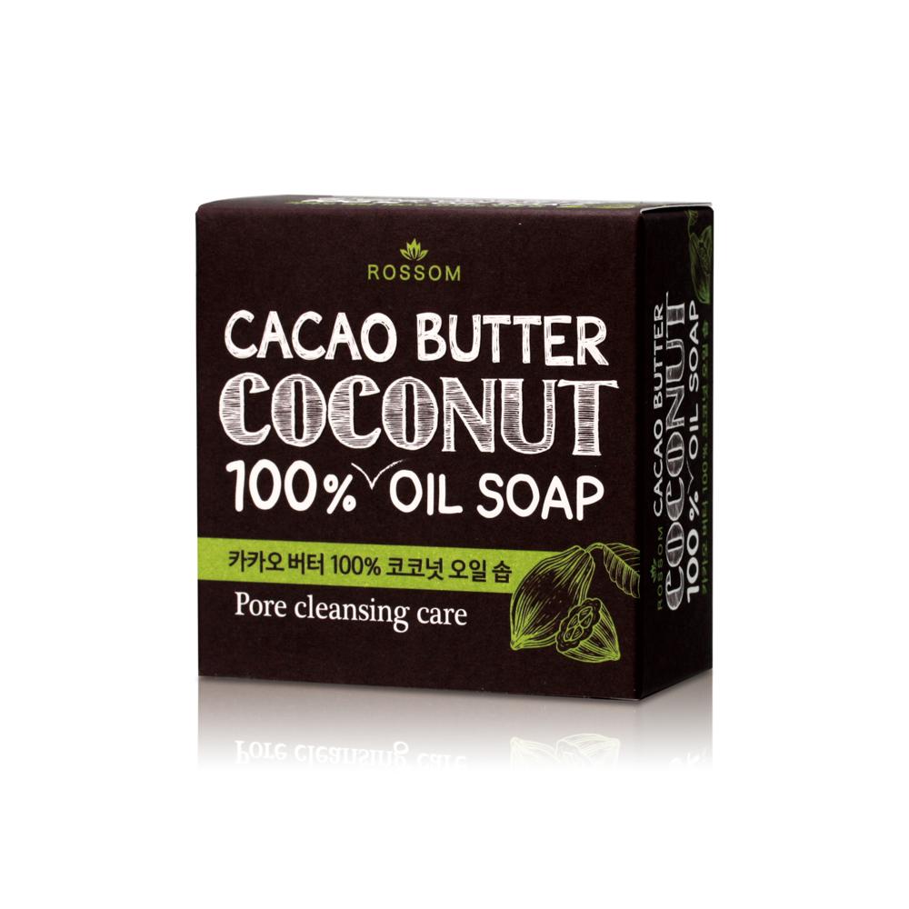 韓國ROSSOM-100%椰子油可可脂毛孔潔淨美顏皂100g