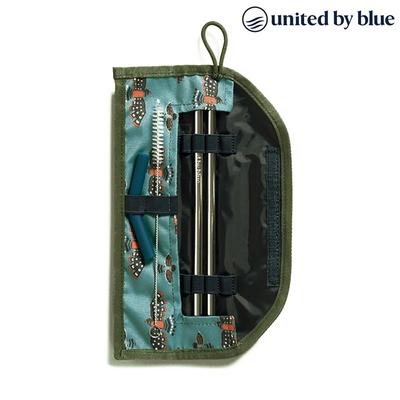 United by Blue 防潑水吸管收納包組 Printed Straw Kit 814-037 (印花款)|印花淺藍
