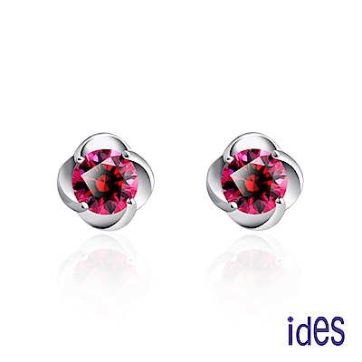ides愛蒂思 輕珠寶。設計款紅剛玉寶石耳環/花開富貴