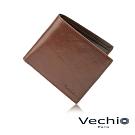 VECHIO - 原皮系列3卡皮夾 - 褐色