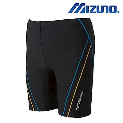 MIZUNO 美津濃 FITNESS 男泳褲 黑x淺藍 N2JB710292