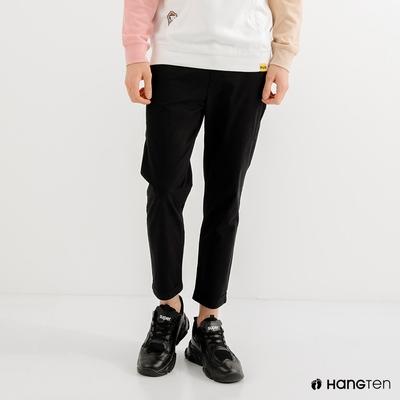 Hang Ten-男裝-TAPERED FIT錐形九分褲-黑色