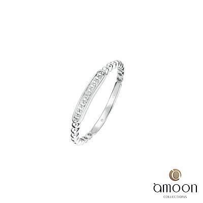 amoon 浪漫艾菲爾系列 依依 K金鑽石戒指