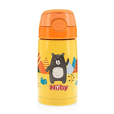 Nuby不鏽鋼真空隨行杯-探險小熊_300ml(18M+)