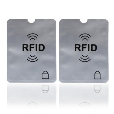 RFID防消磁防盜錄信用卡鋁箔卡套(2入)
