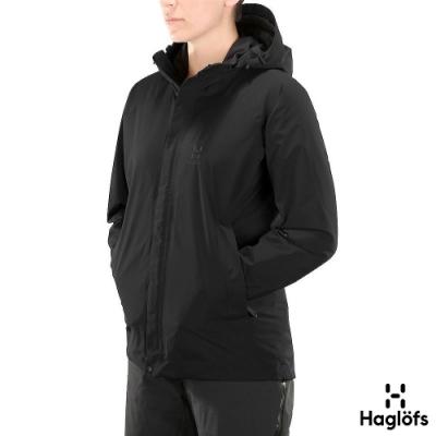 Haglofs 女 Stratus GT 防水 保暖 透氣 化纖外套 黑色