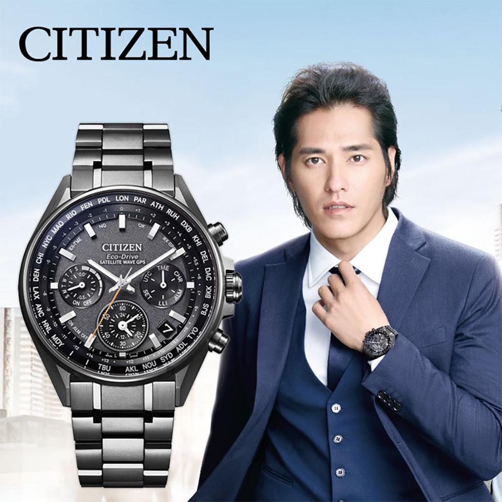 CITIZEN 星辰 光動能 鈦 GPS衛星對時手錶-灰/44mm @ Y!購物