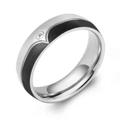 GIUMKA白鋼戒指 黑色寬版男戒 甜蜜負擔 單個價格