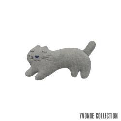 Yvonne Collection 貓咪造型玩偶/滑鼠墊- 淺灰