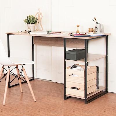 《HOPMA》DIY巧收工業風單邊層架工作桌