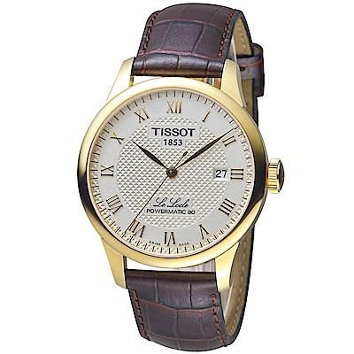 TISSOT 力洛克自動80小時動力儲存機械腕錶-T0064073626300 @ Y!購物