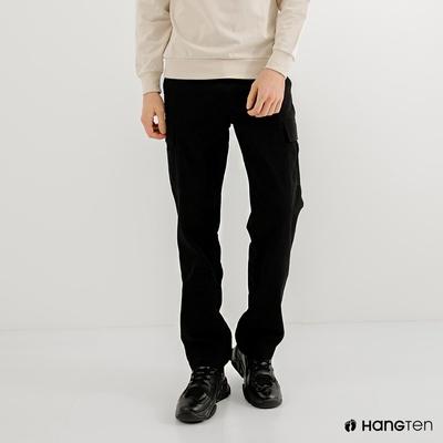 Hang Ten-男裝-REGULAR FIT附腰帶工作褲-黑色