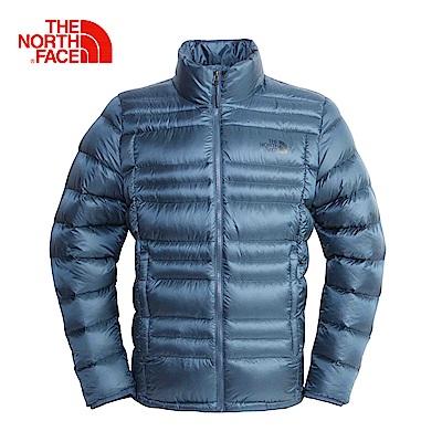 The North Face北面男款藍色保暖防潑水羽絨外套