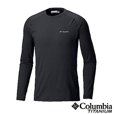 Columbia哥倫比亞 男款-鈦Omni-HEAT 3D 保暖快排長袖上衣-黑色