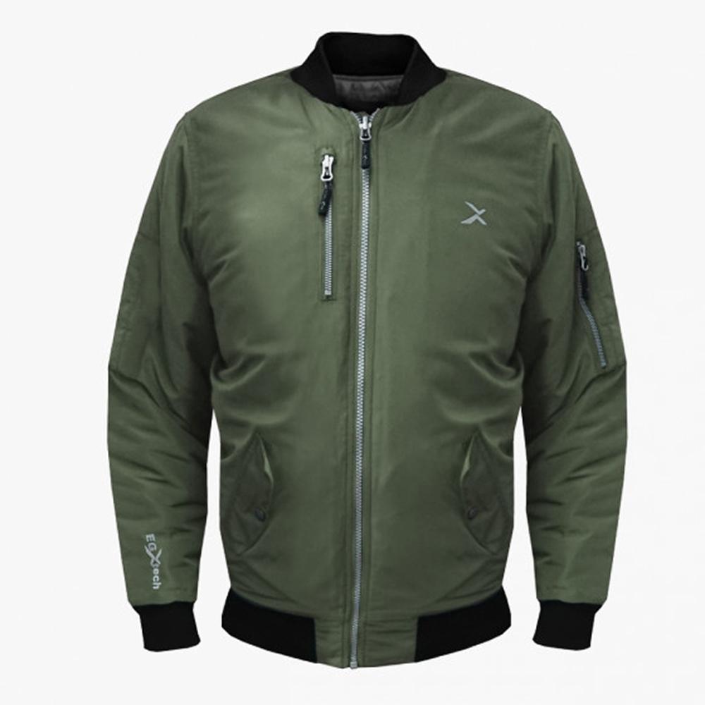 EGXtech BJ-MA1男經典飛行保暖夾克(軍綠)