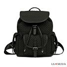 La Moda 通勤必備小香風菱格紋大容量後背包