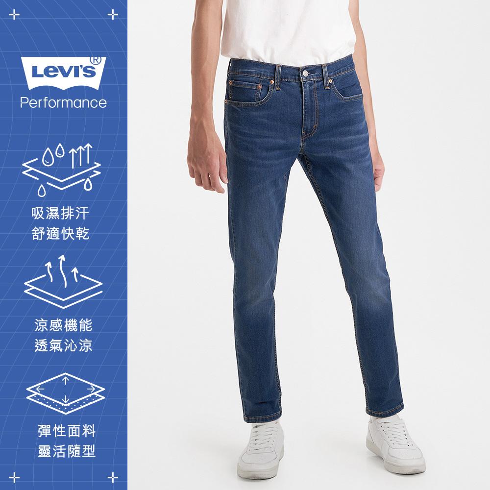 Levis 男款 上寬下窄 512低腰修身窄管牛仔褲 Cool Jeans 輕彈有型 中藍微刷白