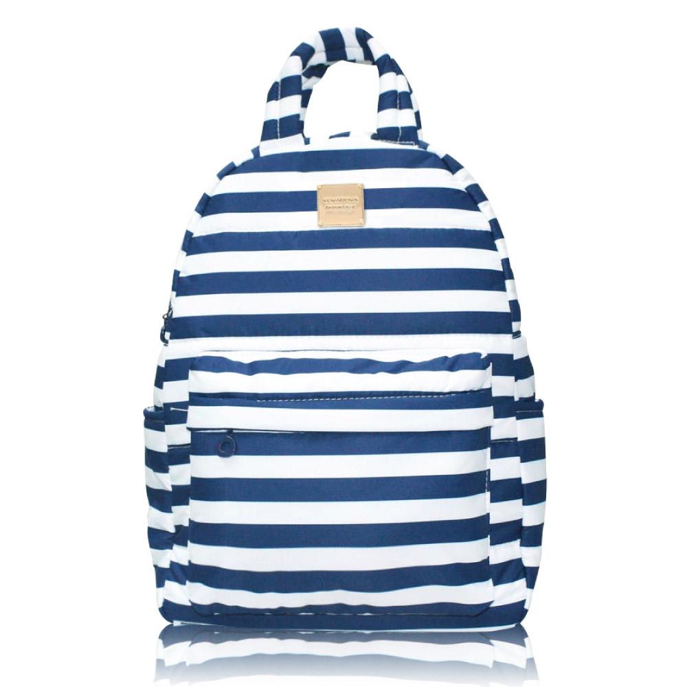VOVAROVA空氣包-嗨!約我吧後背包-經典條紋(藍)