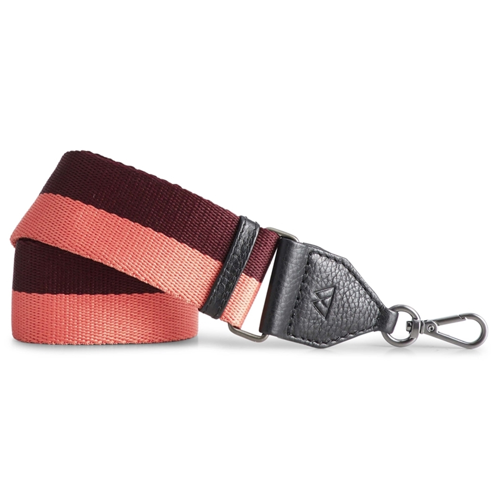 MARKBERG Finley 丹麥手工時尚編織寬版肩揹帶 (珊瑚紅)