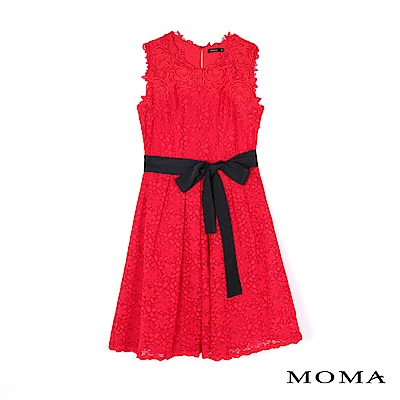 MOMA 無袖蕾絲綁帶洋裝