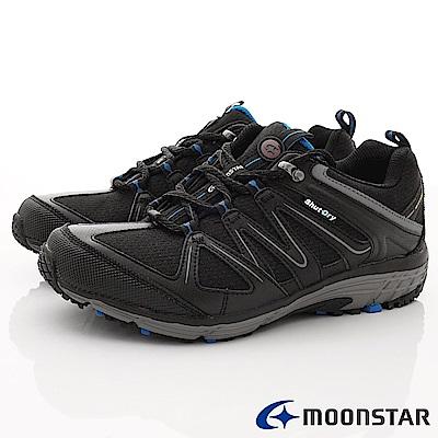 日本Moonstar戶外健走鞋-4E寬楦防水戶外鞋款-016黑(男段)