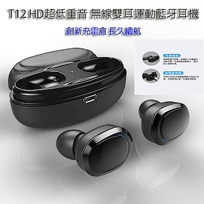 T12 無線雙耳運動藍牙耳機 HD超低重音 最新版本高清