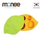 韓國monee 100%白金矽膠豌豆造型防滑雙用矽膠餐盤
