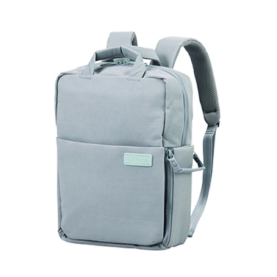 ELECOM 帆布3WAY薄型後背包OF05-煙燻藍