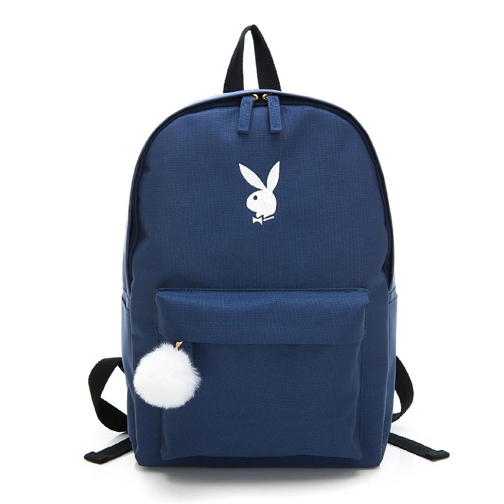 PLAYBOY- 後背包 Bunny兔系列-藍色