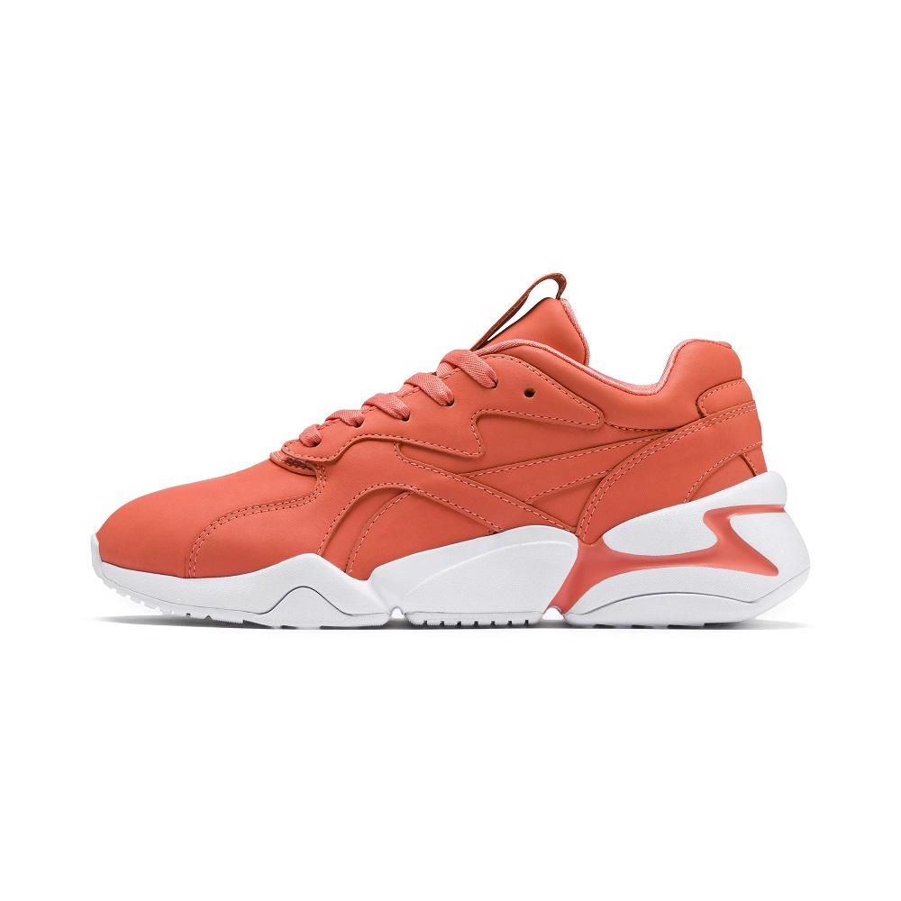PUMA-Nova X Pantone Wn s 女性復古慢跑運動鞋-橘珊瑚