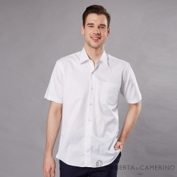 ROBERTA諾貝達 台灣製 職場必備 輕柔防皺短袖襯衫 白色
