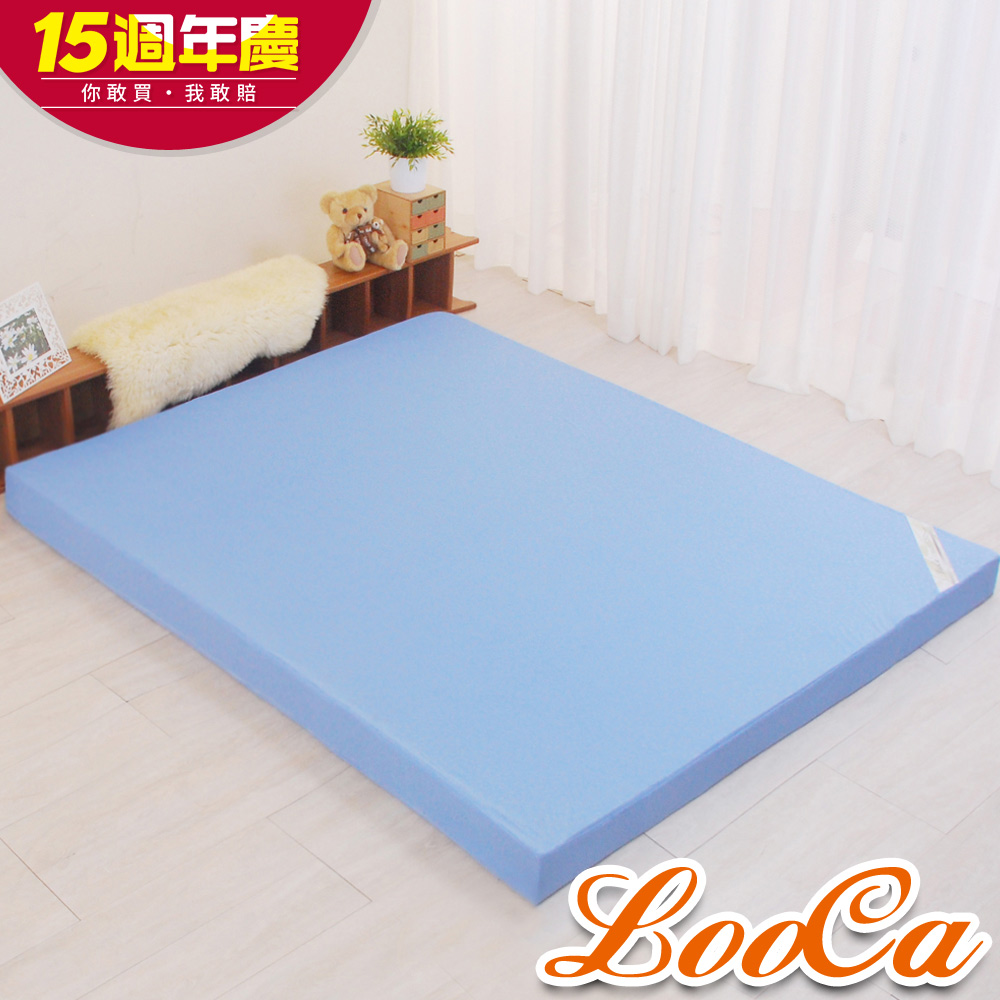 (週年慶限定)LooCa花焰超透氣釋壓12cm記憶床墊-雙人5尺