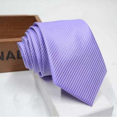 Laifuu拉福,防水領帶8cm寬版領帶拉鍊領帶-淡紫
