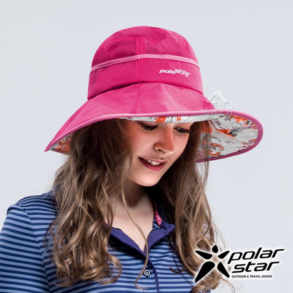 PolarStar 雪紡圓盤帽『桃紅』P16517 抗UV帽 遮陽帽 防曬帽