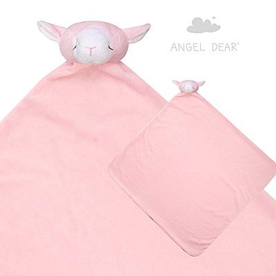美國 Angel Dear 大頭動物嬰兒毛毯 (粉紅小羊)