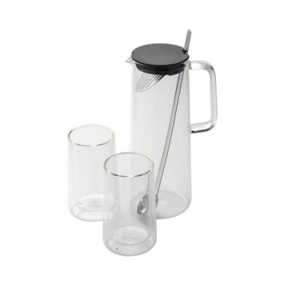 德國 WMF 玻璃水瓶+玻璃杯2入組