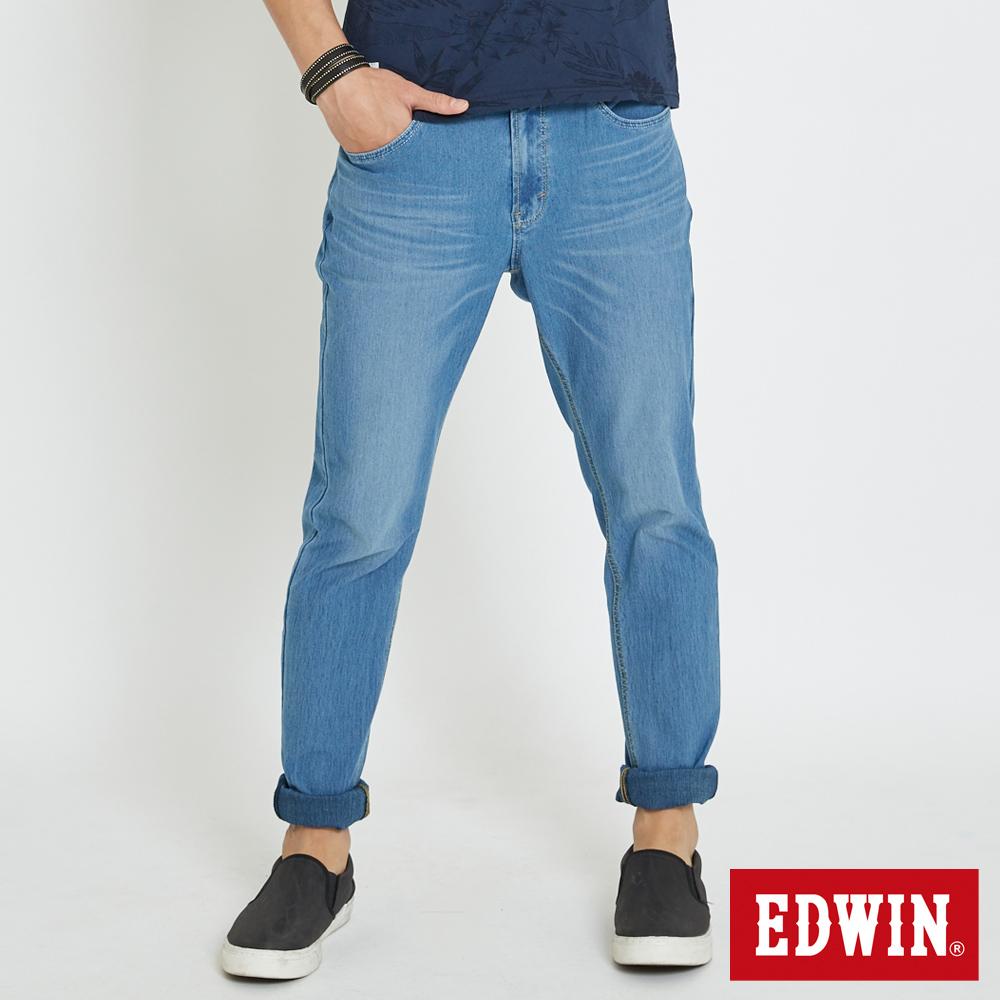 EDWIN JERSEYS 迦績涼感 AB牛仔褲-男-石洗藍