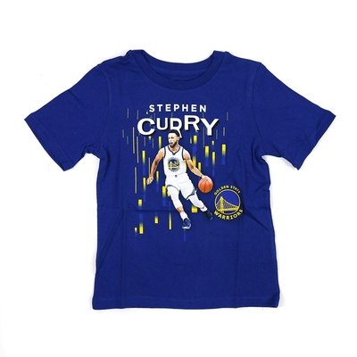 NBA 兒童 球員印刷 短袖上衣 勇士隊 Stephen Curry