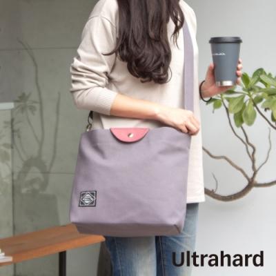 Ultrahard Masterpiece Map 袋蓋兩用托特包(灰粉)