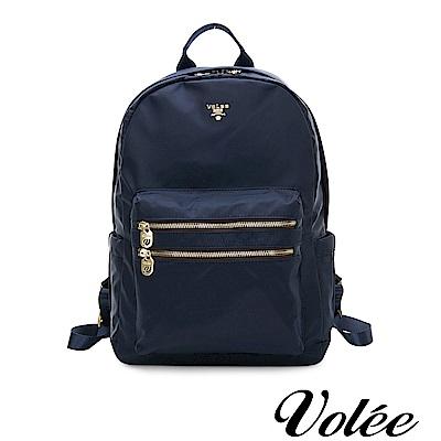 Volee好旅行系列雙拉鍊筆電後揹包-英國藍