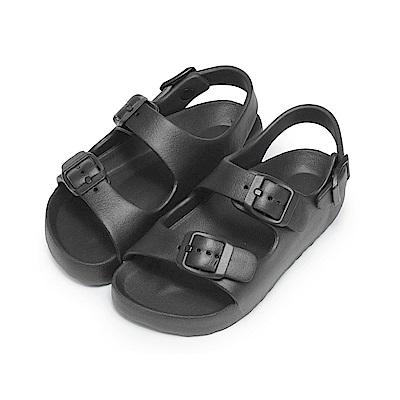 BuyGlasses 輕量雙帶防水兒童涼鞋-黑
