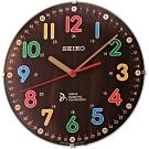SEIKO 精工 喬科維奇兒童教育滑動式秒針座掛鐘-21cm(QXA932B)