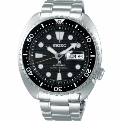 SEIKO精工PROSPEX DIVER SCUBA陶瓷圈機械錶-黑色/45mm